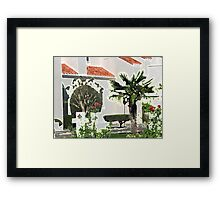Church Yard in Livermore, California Framed Print