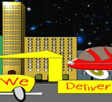 Delivery Toon Truck Sticker