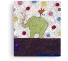 Ella, Tilly and the polka dots Canvas Print