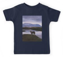 a colourful Iceland landscape Kids Tee