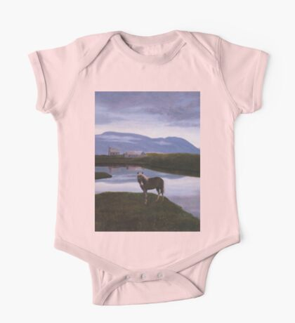 a colourful Iceland landscape One Piece - Short Sleeve