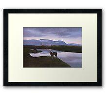 a colourful Iceland landscape Framed Print