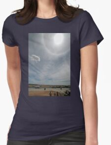 Halo Over Temora Airport,Australia 2010 Womens Fitted T-Shirt