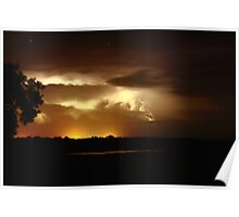 Lightning bolt over Broome Poster
