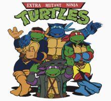 Extra Mutant Turtles One Piece - Short Sleeve