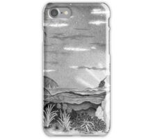 Landscape of New Zealand Drawing iPhone Case/Skin