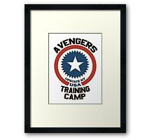 AVENGERS TRAINING CAMP Framed Print