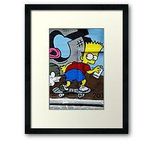 Graffiti - Bart on the Run Framed Print