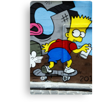 Graffiti - Bart on the Run Canvas Print