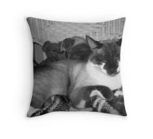 King of the House Throw Pillow