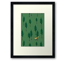 Fox in the woods. Framed Print