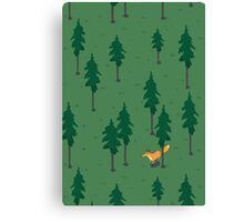 Fox in the woods. Canvas Print