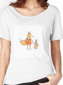 Fox and hare. Women's Relaxed Fit T-Shirt