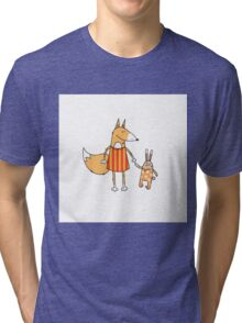 Fox and hare. Tri-blend T-Shirt