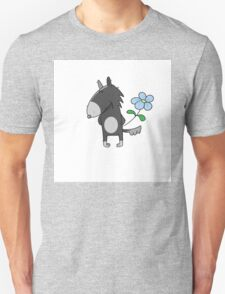 Wolf with a flower. T-Shirt