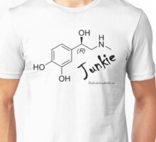 Adrenaline Junkie - Black Text Unisex T-Shirt