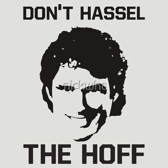 Quot Don T Hassel The Hoff Quot T Shirts Amp Hoodies By Nickwho