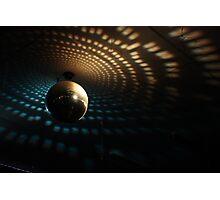 Disco Ball - Orange/Blue Photographic Print