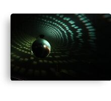 Disco Ball - Green Canvas Print
