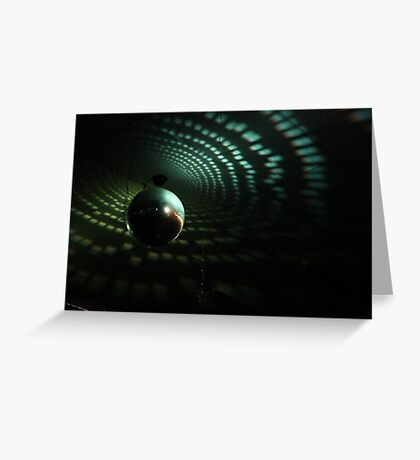 Disco Ball - Green Greeting Card