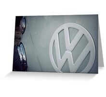 Split screen volkswagen Greeting Card