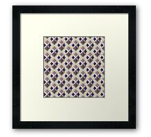 Abstract isometric pattern Framed Print