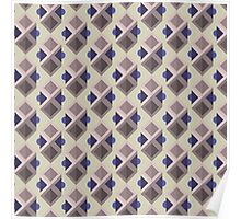 Abstract isometric pattern Poster