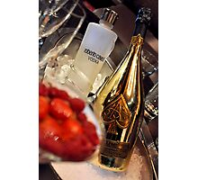 Strawberries n Champers Photographic Print
