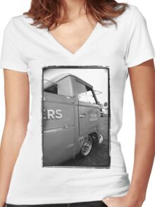 Single Cab Women's Fitted V-Neck T-Shirt