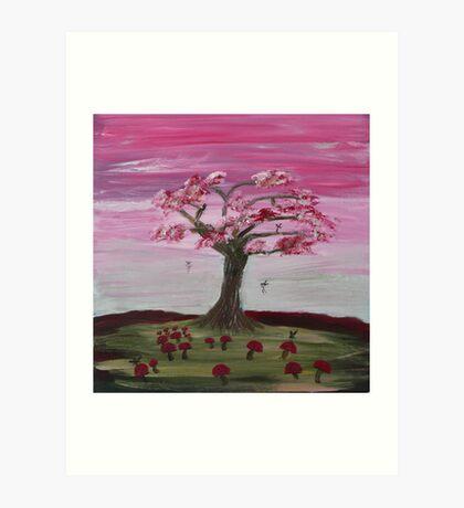 """Faery Tree"" a beautiful day Art Print"