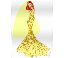Fashion -yellow lace gown (8304 Views) Poster