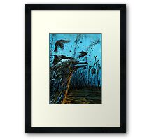 Crows Plague Framed Print
