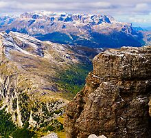 View from Monte Lagazuoi, Dolomiti, Italy by Andrew Jones