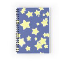 Starry Starry Stars Blue Yellow Spiral Notebook
