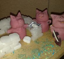 Three little piggies by Susanna Saxberg-Tesmala