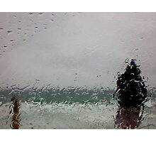 As he stands in the rain.... Photographic Print