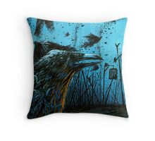 Crows Plague Throw Pillow