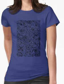 Her Paper Garden Womens Fitted T-Shirt