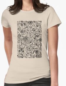 Her Paper Garden Womens Fitted T-Shirt