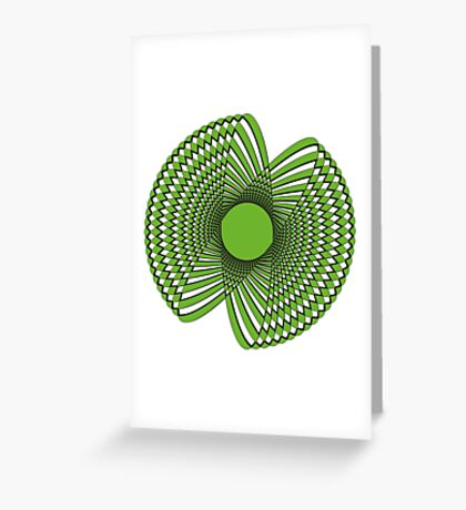 Abstract spirograph flower Greeting Card