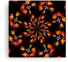 Merry Glowing Petals of Fire Canvas Print