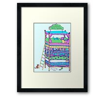 Queen Ermintrude's Patented Princess Testing Apparatus Framed Print