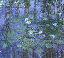 Monet - Blue Waterlilies by Chunga