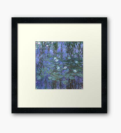 Monet - Blue Waterlilies Framed Print