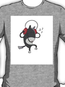 Wolf with earphones. T-Shirt