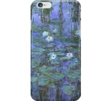 Monet - Blue Waterlilies iPhone Case/Skin