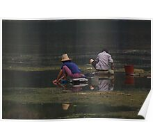 Doing the Laundry, Yangshuo, China Poster