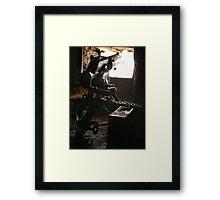 First World War machine gun post, Monte Lagazuoi, Dolomiti, Italy Framed Print