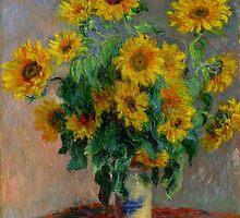 Monet - Sunflowers by Chunga