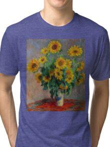 Monet - Sunflowers Tri-blend T-Shirt